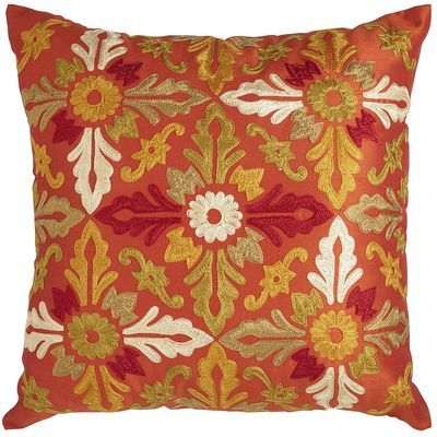 pier one embroidered tile pillow sunset