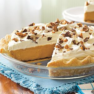Butterscotch Pudding Pie. I've been making this for a few years now. Be sure to make your own whipped topping too- it's delish!