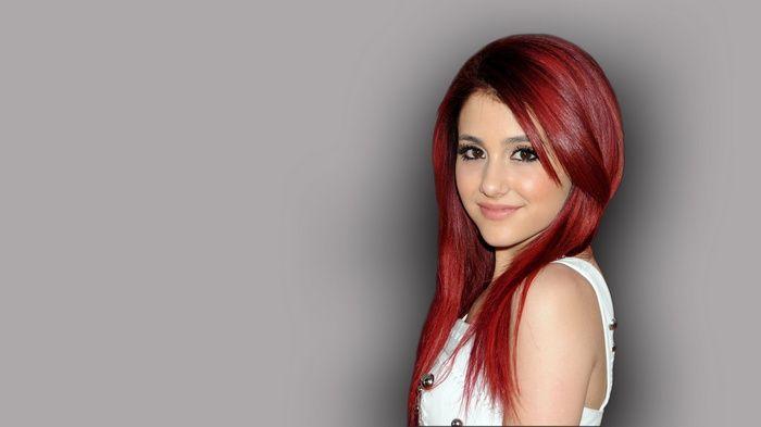 Ariana Grande Music Redhead Gray Simple Background Wallpaper Ariana Grande Images Beauty Ariana Grande Poster