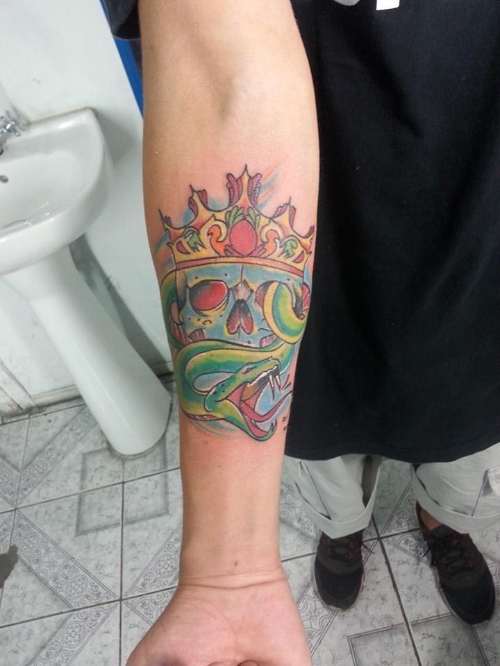 calaca serpiente tattoo