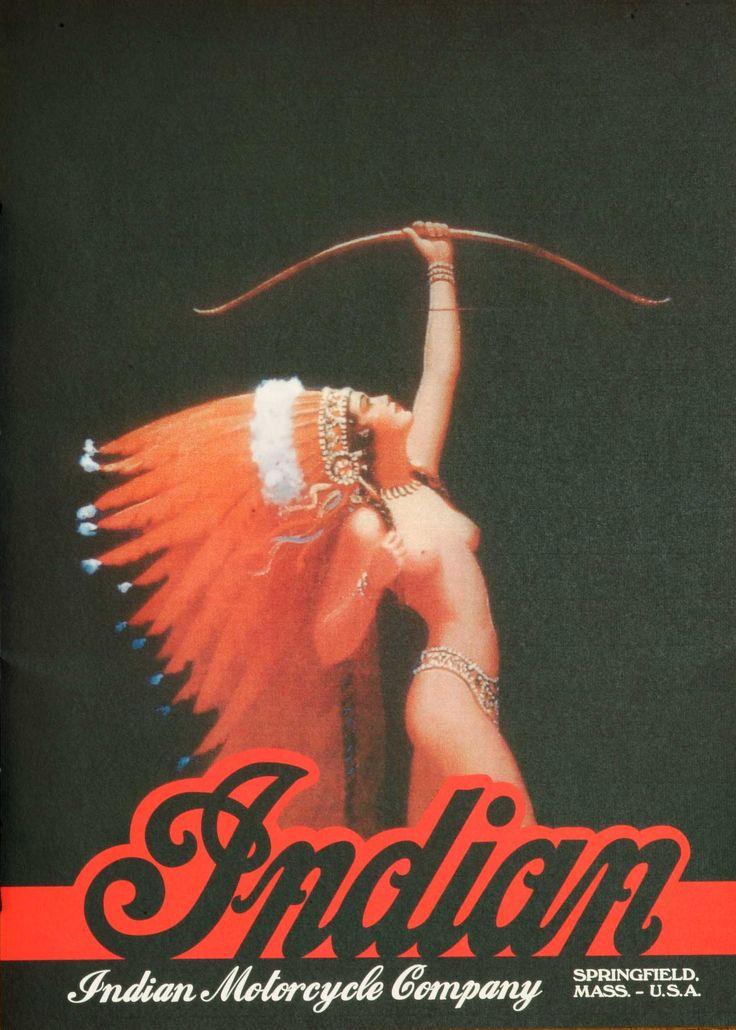 Vintage Indian Motorcycle Advertising Poster