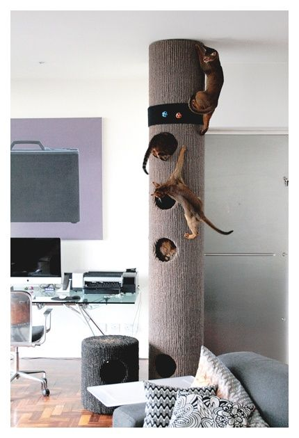 This tower is a Must for the fire cat and is a great project for the earth man in your life.