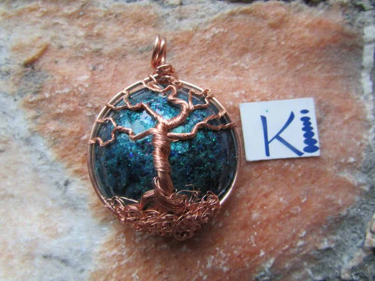 Large Round Orgone Copper Tree of Life Pendant by KiCrystalCreations on Etsy