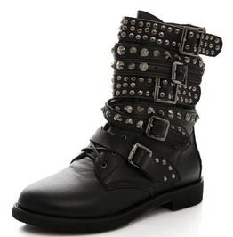 Studded Combat Boots 133072