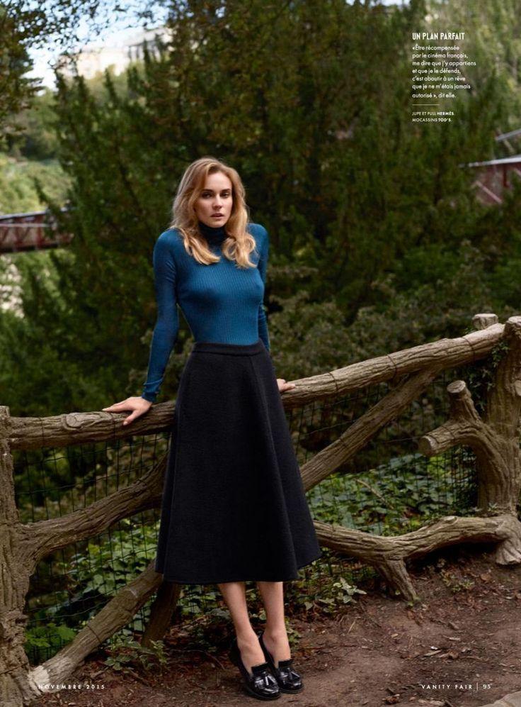 """Duchess Dior: """"Blonde Ambition"""" Diane Kruger for Vanity Fair France November 2015"""