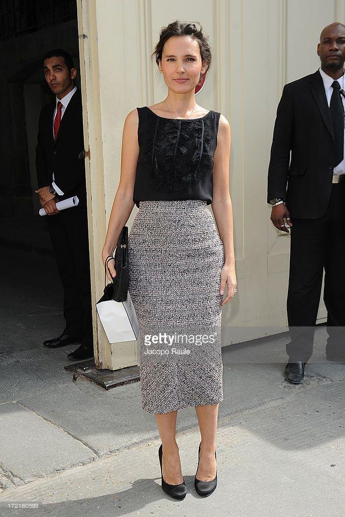 Photo d'actualité : Virginie Ledoyen attends the Chanel show as part...
