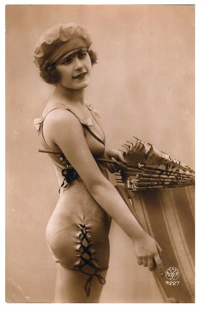 1920's Bathing Beauty ~Anyone want to go for a swim today??? Temp has warmed up to 6 degrees !!!!!~