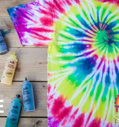 DIY Tie dye spiral summer t-shirt  // Színes spirál nyári pamut póló batikolással ( textilfestéssel ) // Mindy - craft tutorial collection