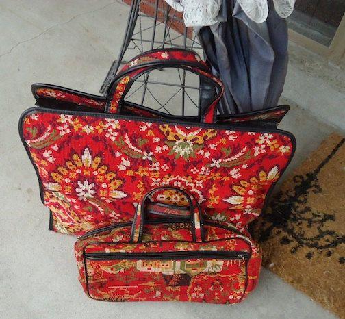 needlepoint travel-bags