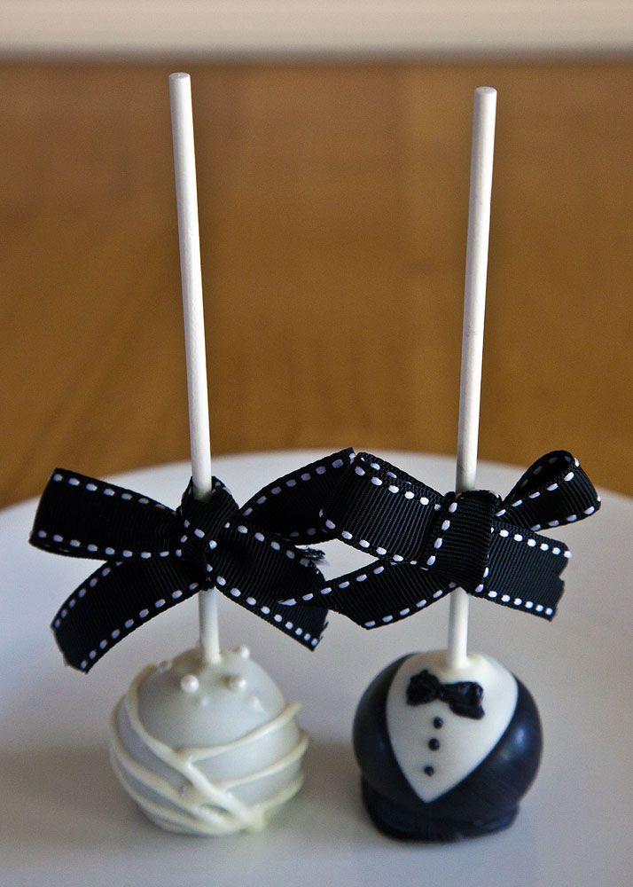Bride and Groom Cake Pops Where yo