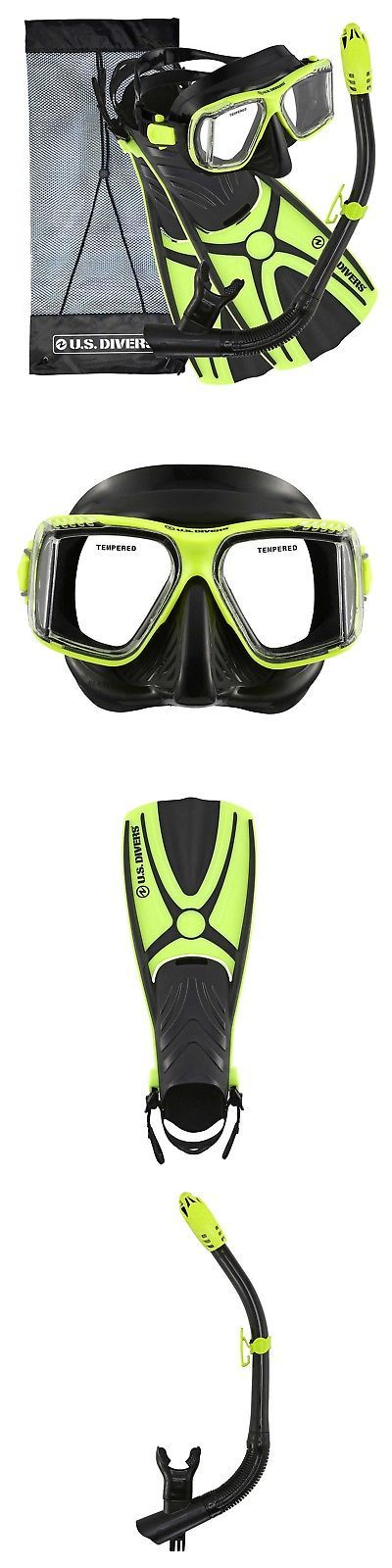 Snorkels and Sets 71162: U.S. Divers Panoramic View Adult Snorkel Set - Neon ... **Sale - Special Price** -> BUY IT NOW ONLY: $51.66 on eBay!