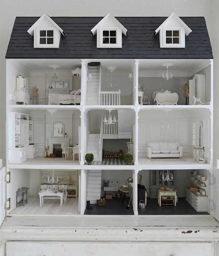 """2,586 Likes, 159 Comments - Janet Parrella-van den Berg (@white_and_faded) on Instagram: """"Some of you have been wondering where my dolls house is. Well its waiting all still wrapped up in…"""""""