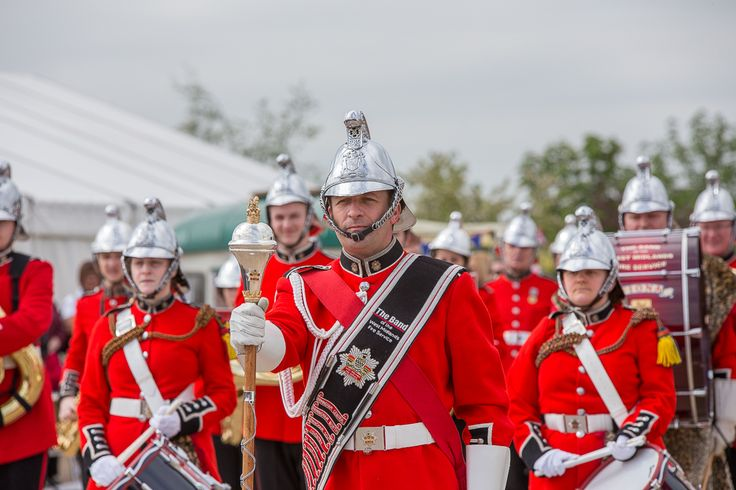 The Band of the West Midlands Fire Service at the annual Firefighters' International Service of Thanksgiving at the National Memorial Arboretum // Pic: Stephen Tyler