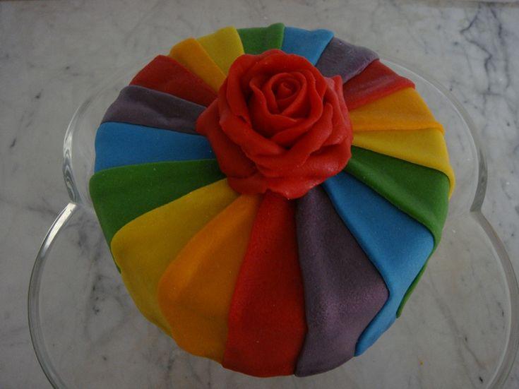 Rainbow Birthday cake idea for Ellie