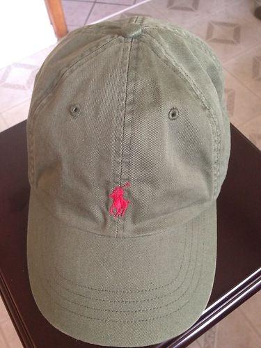 Polo Ralph Lauren Signature Pony Hat Olive Green NWOT $.99