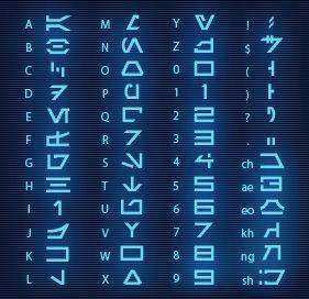 """Aurebesh"" font. Star Wars. [ CaptainMarketing.com ]"