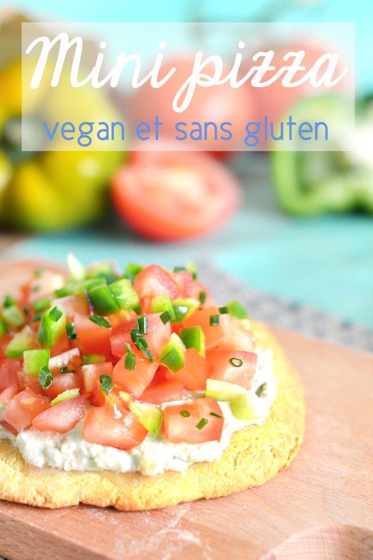Mini pizza vegan et sans gluten tomate et poivron - Sweet & Sour | Healthy & Happy Living