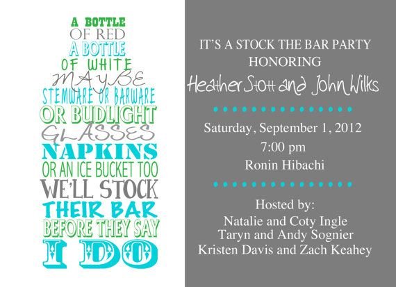 7 best stock the bar holiday housewarming party images on, Party invitations