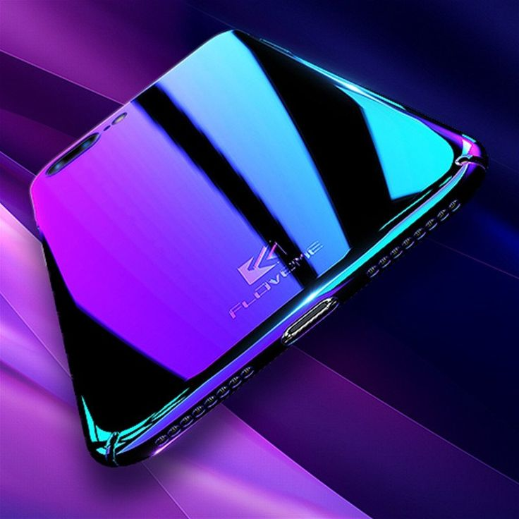 FLOVEME Blue Ray Gradient Cases For Samsung S8 S7 S6