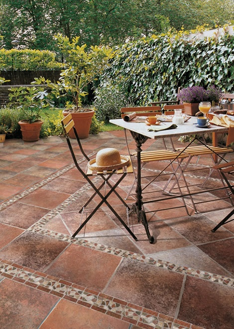 Delightful Love The Outdoor Tile For A Patio.