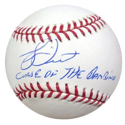 """Bucky Dent Autographed MLB Baseball Curse of the Bambino PSA/DNA . $69.00. This is an Official Major League Baseball that has been signed by Bucky Dent. Bucky signed this one, """"Curse of the Bambino."""" The autograph has been certified authentic by PSA/DNA and comes with their sticker and matching certificate."""