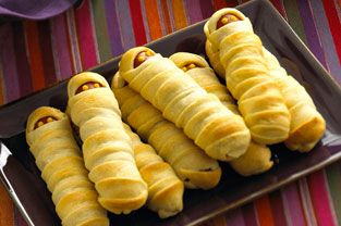 Crescent Mummy Dogs- these would be cute as long as I can find some organic franks :)