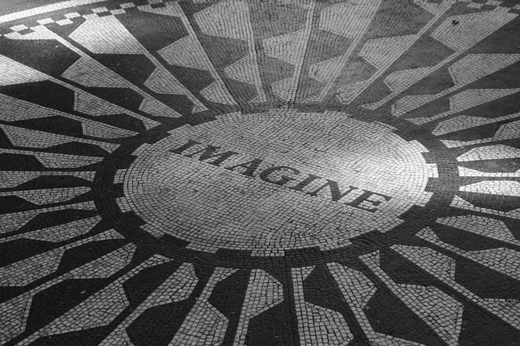 Central Park - Strawberry Fields, hiked from Harlem to the bottom of central park.