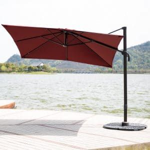 Good C Hopetree, Aluminum Outdoor Cantilever Patio Umbrella