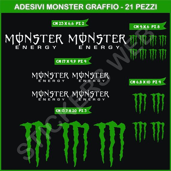 78 Best Images About Monster Energy Stickers On Pinterest