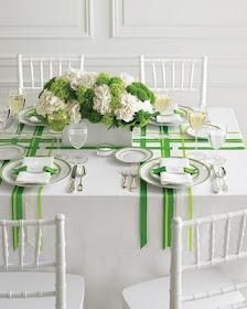 Table decor.. Ribbon!