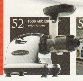 Omega Masticating Juicer as featured in Pub & Bar, 19th August '13