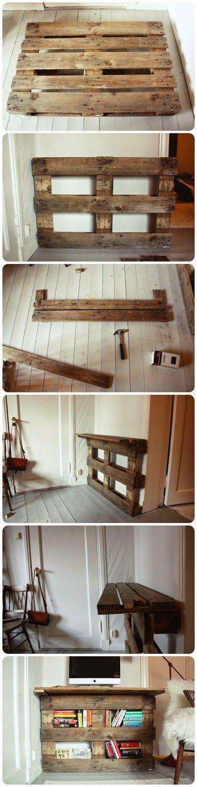 * Decoração e Invenção *: Aparador feito com paletes - DIY
