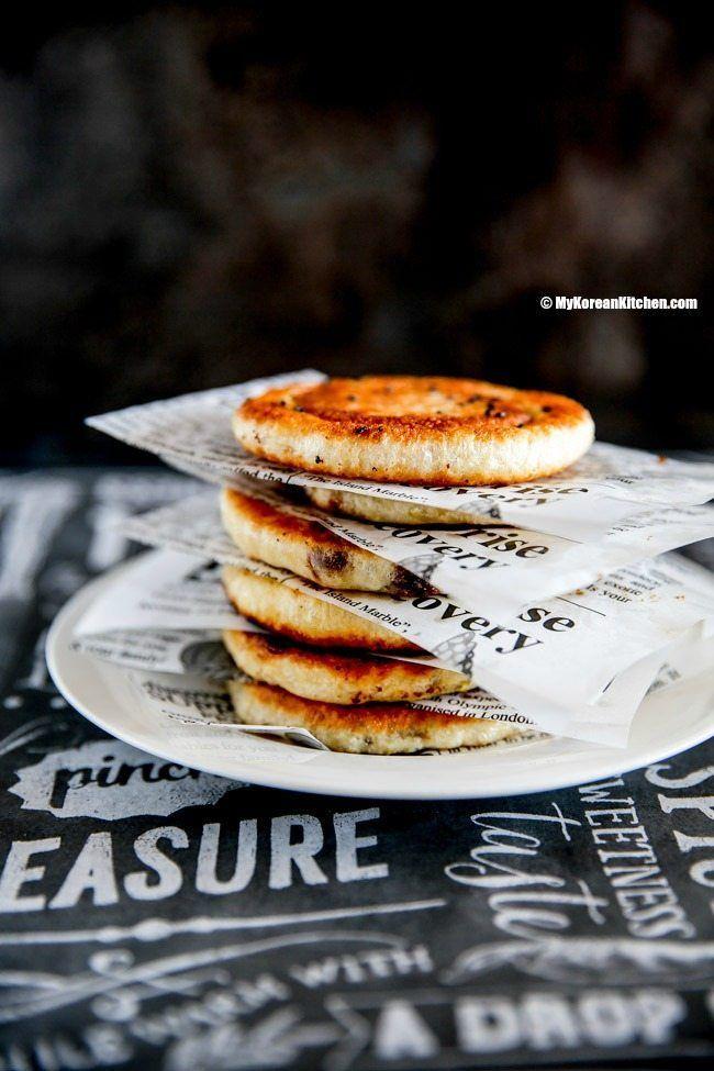 How to make popular Korean winter street food - Korean sweet pancakes (Hotteok). It's the ultimate sweet comfort! | MyKoreanKitchen.com