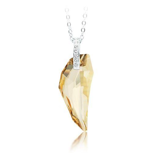 Wolf Tooth Pendant with Swarovski® Light Colorado Crystal