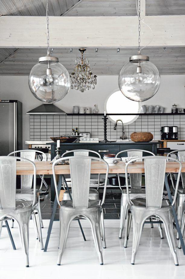 Industriele Keuken Thuis : industriele keuken – lampen keuken – tolix stoelen – tolix – balken