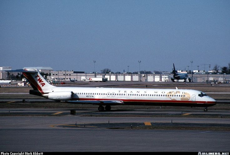McDonnell Douglas MD-83, TWA Trans World Airlines, N973TW, cn 53623/2276, 144 passengers, first flight 31.8.1999, Trans World delivered 10.9.1999. Foto: St. Louis, United States, 26.3.2001.