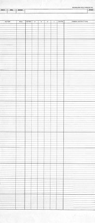 Michael Sporn Animation – Splog » Dope Sheets