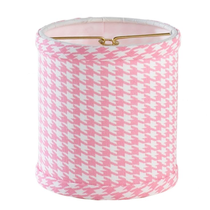"4"" Houndstooth Drum Chandelier Shade pink"