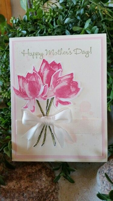 Stampin Up ... Mother's Day Lotus Blossom