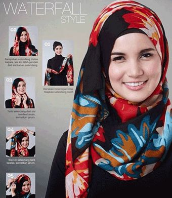 How to Wear Hijab set Modern Patterned