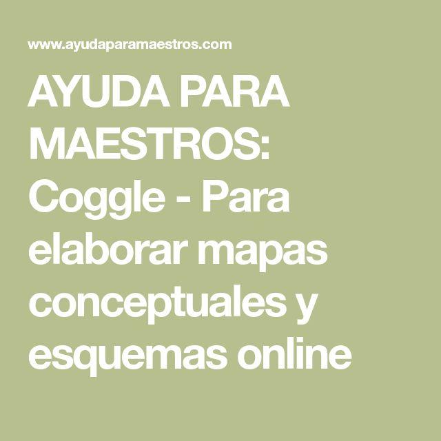 AYUDA PARA MAESTROS: Coggle - Para elaborar mapas conceptuales y esquemas online