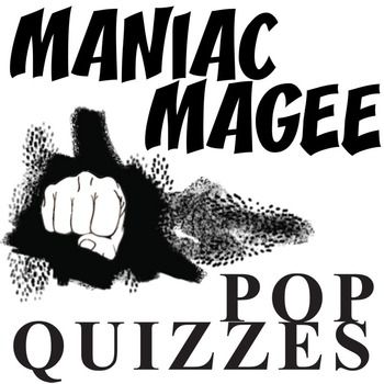 MANIAC MAGEE 13 Pop Quizzes BundleTEXT: Maniac Magee by Jerry SpinelliGRADE LEVEL: 4th-8thCOMMON CORE: CCSS.ELA-Literacy.RL.2This resource will be combined into the soon-to-be-released MANIAC MAGEE Unit Teaching Package bundle. Follow our store to hear the release date.This Maniac Magee Pop Quiz Bundle includes:* 12 Pop Quizzes for Maniac Magee by Jerry Spinelli (1 quiz per couple of chapters)* 27-slides of PowerPoint Quizzes & Keys* 24-pages of Printable Quizzes & Keys* The quizzes a...