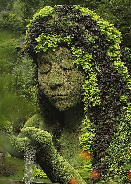 The Earth Goddess at Atlanta Botanical Garden / USA (by Steven W Lum).