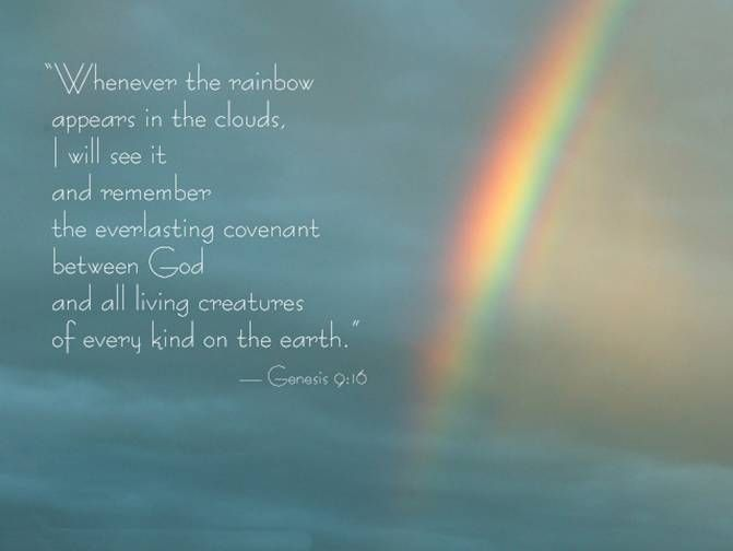 Genesis 9:16 (NIV) not only mankind but ALL living creatures...we need to take care of this earth better