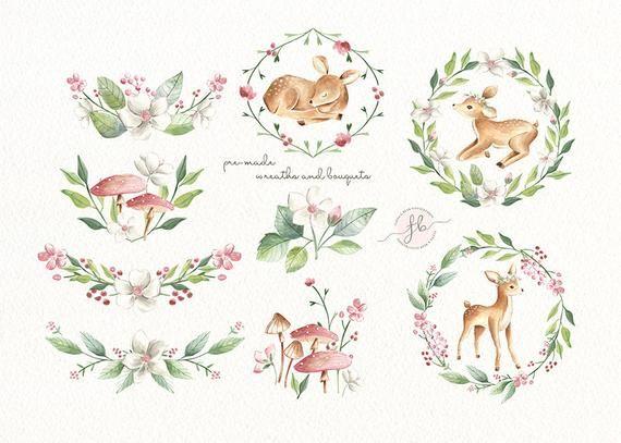 Mother And Baby Deer Clipart Png Eps Jpeg Baby Deer Clip Art Cute Animals In 2021 Baby Deer Art Baby Deer Clip Art