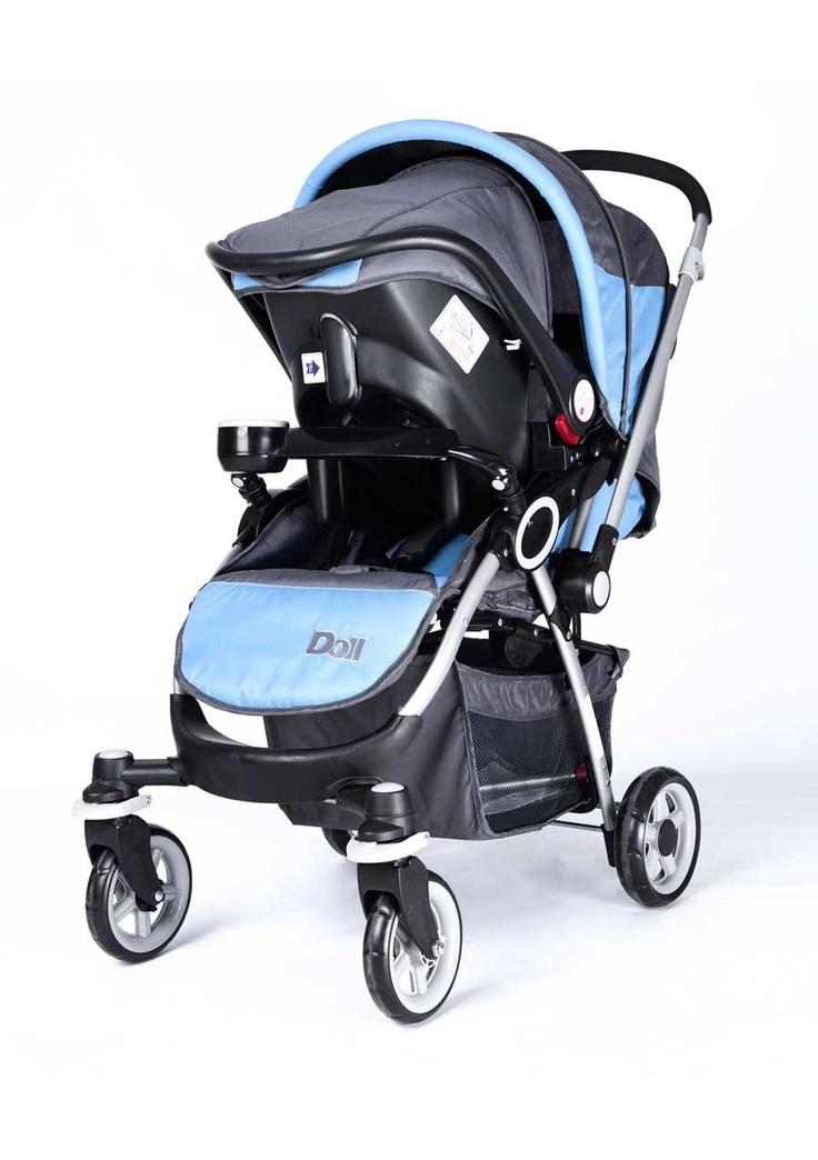 Arka tekerleklerde fren sistemiyle Doll Travel Sistem bebek arabası, bebeğiniz için bütün güvenlik önlemlerini düşündü.