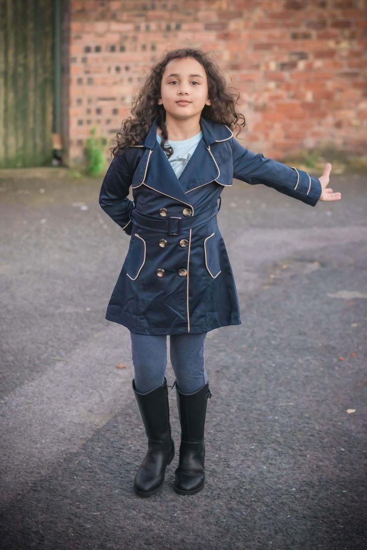 Girls trench coat Girls style, Kids Fashion, Girls Fashion, The Inspiration Edit