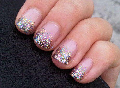 Glitter Tip Nail Polish