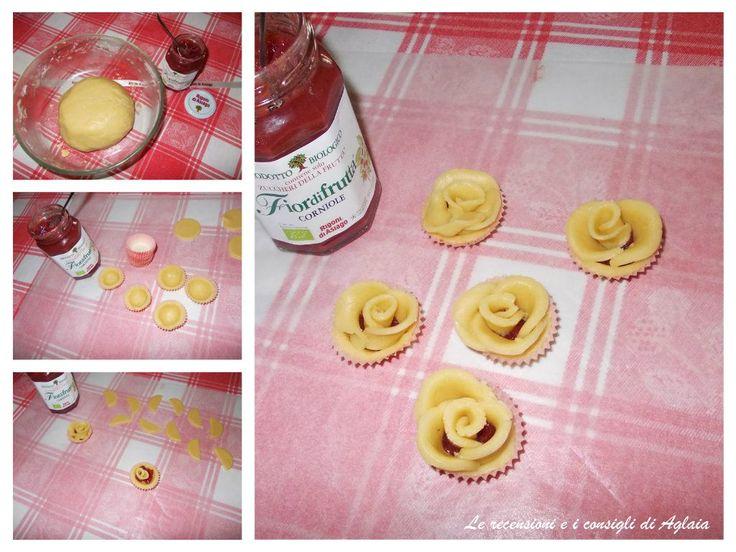 Rose di corniole Ingredienti: 250 gr farina 3 tuorli 100 gr zucchero 100 gr burro 1 bustina lievito Succo di limone 1 barattolino di Corniole Rigoni di Asiago