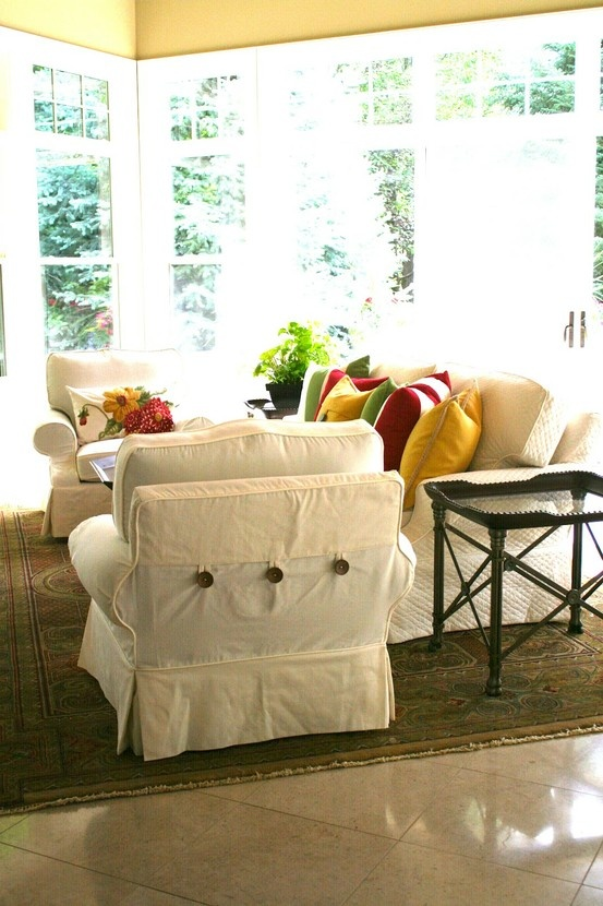 Chair Slipcovers and Slipcovers for Sofas   Cool Design Elements